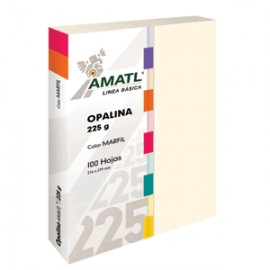 OPALINA AMATL MARFIL 225 GR CON 100 POCHTECA