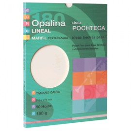 PAPEL OPALINA GOFRADA LINEAL MARFIL CON 50 CARTA - Envío Gratuito