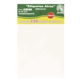 ETIQUETAS CIRCULARES ATRAX TRANSPARENTES CON 120 P