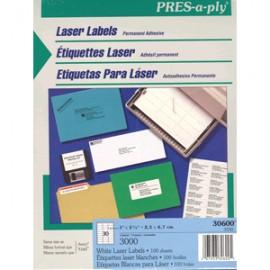 ETIQUETAS LASER PRESS PLY ACERY 1X2 5/8 CON 3000 - Envío Gratuito