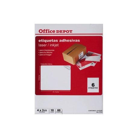ETIQUETAS LASER INKJER OFFICE DEPOT 4X3 1/3 - Envío Gratuito
