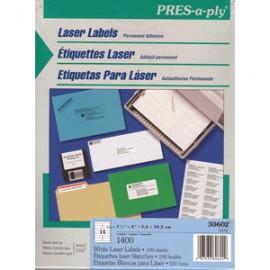 ETIQUETAS LASER PRESS PLY AVERY 1/3X4 14 CON 1400