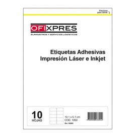 ETIQUETAS BLANCAS 10.2X5.1CM LASER/IKNJET