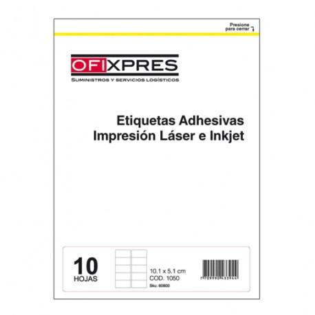 ETIQUETAS BLANCAS 10.2X5.1CM LASER/IKNJET - Envío Gratuito
