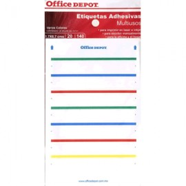 ETIQUETAS RECTANGULARES OFFICE DEPOT CON 140 PIEZA