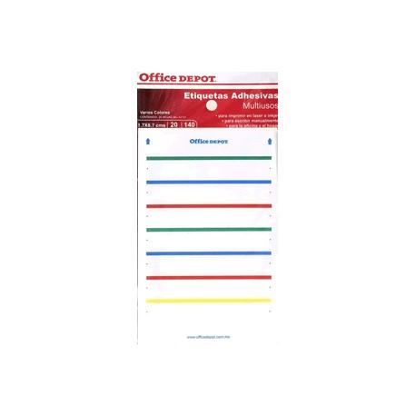 ETIQUETAS RECTANGULARES OFFICE DEPOT CON 140 PIEZA - Envío Gratuito