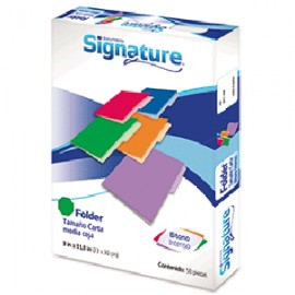 FOLDER CARTA SIGNATURE VERDE CON 50 PIEZAS