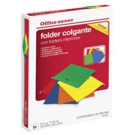 FOLDERS COLGANTES CARTA OFFICE DEPOT CON 25 PIEZAS - Envío Gratuito