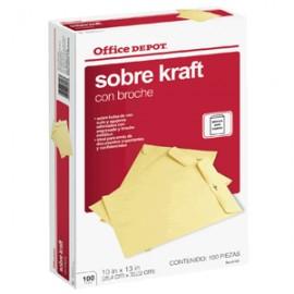SOBRES DE PAPEL OFICIO OFFICE DEPOT CON BROCHE 100 - Envío Gratuito