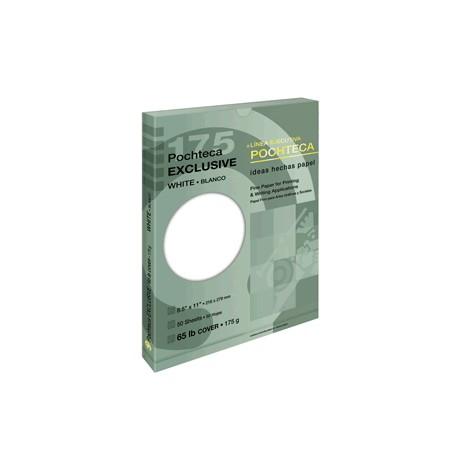 PAPEL EXCLUSIVE BLANCO CARTA 175 GR CON 50 POCHTECA - Envío Gratuito