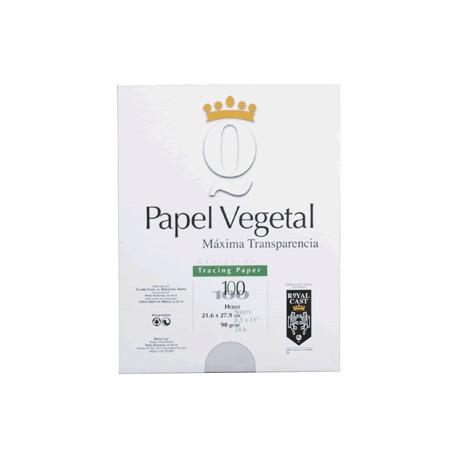 PAPEL VEGETAL CARTA BLANCO 100 HOJAS ROYAL CAST - Envío Gratuito