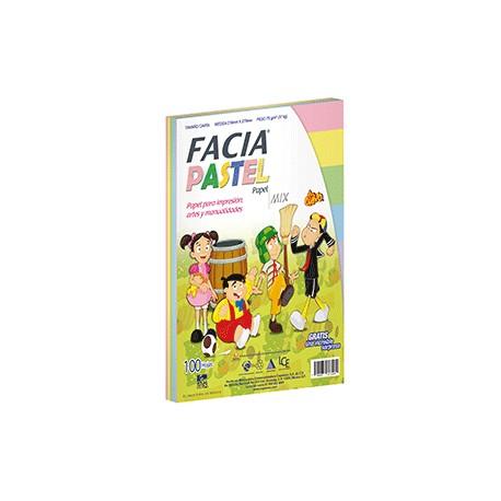 PAPEL COLORES PASTEL C/100 HOJAS FACIA - Envío Gratuito