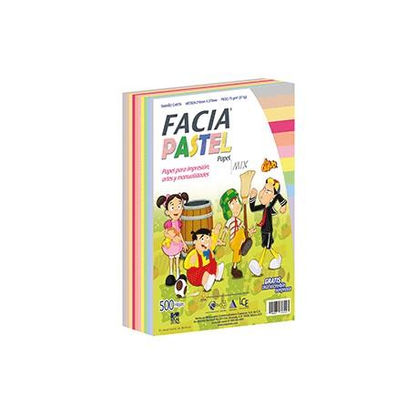 PAPEL PASTEL SURTIDO 10 COLORES CON 500 HOJAS FACIA - Envío Gratuito
