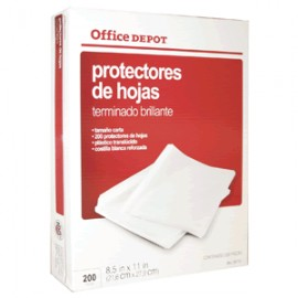 PROTECTOR DE HOJAS OFFICE DEPOT BRILLANTE CON 200 - Envío Gratuito