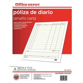 POLIZA DIARIO OFFICE DEPOT 50 HOJAS - Envío Gratuito