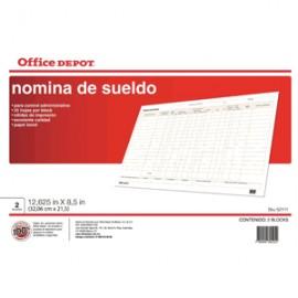 NOMINA SUELDO OFFICE DEPOT 25 HOJAS - Envío Gratuito