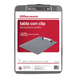 TABLA CON CLIP ACLILICO OFFICE DEPOT TAMANO CARTA - Envío Gratuito