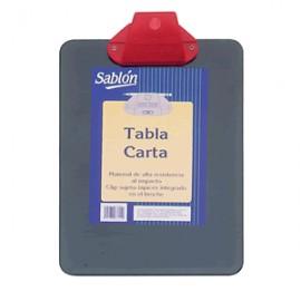 TABLA CON CLIP PLASTICA SABLON CARTA COLOR NEGRO - Envío Gratuito