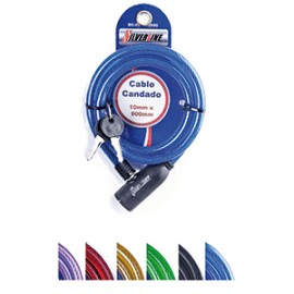 CABLE CANDADO SILVERLINE 10X900 MM - Envío Gratuito