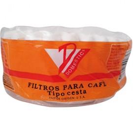FILTRO PARA CAFE DOMESTIC CESTA CON 50 PIEZAS - Envío Gratuito