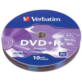 DVD- R VERBATIM BULK WRAP 4.7GB 10 PIEZAS - Envío Gratuito