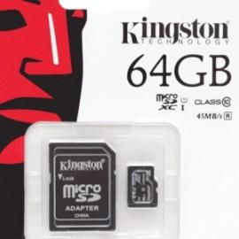 MICRO SD KINGSTON 64GB CLASE10 - Envío Gratuito