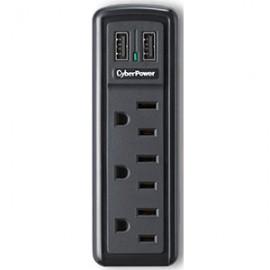 SUPRESOR CYBERPOWER 918 DE 3 ENTRADAS CON 2 USB - Envío Gratuito