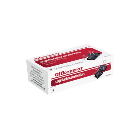 SUJETADOCUMENTOS 3/4 (19MM) 12 PACK OFFICE DEPOT - Envío Gratuito