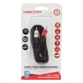 CABLE 3.5MM A RCA MASTER (1 MT) - Envío Gratuito
