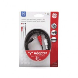 CABLE 3.5MM A RCA GENERAL ELECTRIC (1.82 MTS) - Envío Gratuito