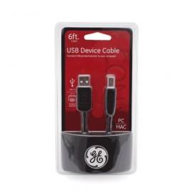 CABLE USB GENERAL ELECTRIC (2MTS, A/B MACHO) - Envío Gratuito