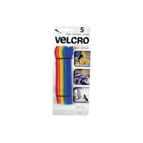 VELCRO TIRAS ONEWRAP 1/2 X 8 COLORES - Envío Gratuito
