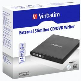 REPRODUCTOR VERBATIM CD-DVD EXTERNA SLIMLINE - Envío Gratuito