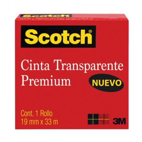 CINTA TRANSPARENTE 19MM X 33M - Envío Gratuito