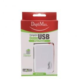 CARGADOR DUPLIMAX PARED CON 2 SALIDA USB DE 2.4 A - Envío Gratuito