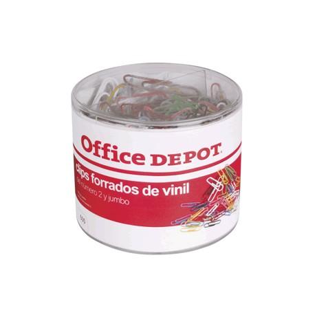 CLIPS DE COLORES OFFICE DEPOT JUMBO Y ESTANDAR - Envío Gratuito