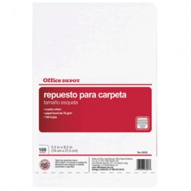 HOJAS P/CARPETA ESQUELA OFFICE DEP 100 H CUADRO CH - Envío Gratuito