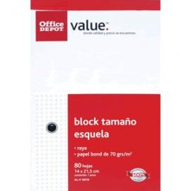BLOCK ESQUELA OFFICE DEPOT 80 HOJAS RAYA - Envío Gratuito