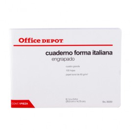 CUADERNO ITALIANA ENGRAPADO CUADRO GDE 100 HOJAS - Envío Gratuito