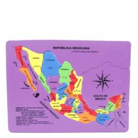 MAPA DE LA REPUBLICA MEXICANA TAMANO CARTA - Envío Gratuito