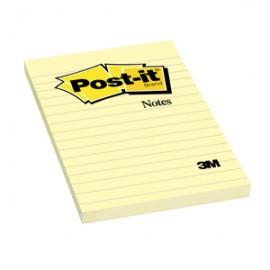 POST-IT 660 4X6 AMARILLO CON RAYAS