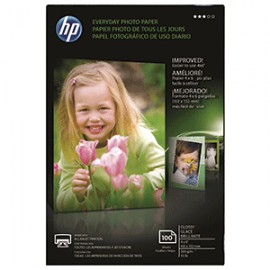 PAPEL FOTOGRAFICO HP 4X6 CON 100 HOJAS