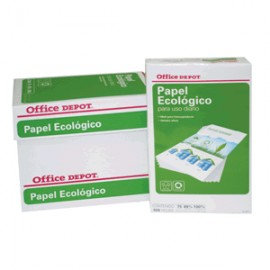 CAJA PAPEL RECICLADO 100 OFFICE DEPOT CARTA