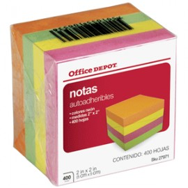 MININOTAS OFFICE DEPOT NEON 2 X 2