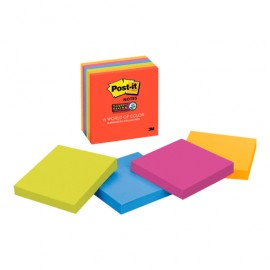 POST-IT SUPER STICKY NEON 3 X 3 PAQ/6