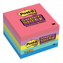 POST-IT ELECTRIC GLOW 3X3 90H 5PK