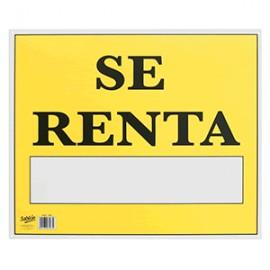 LETRERO CON LEYENDA SE RENTA 34 X 50 CM SABLON - Envío Gratuito