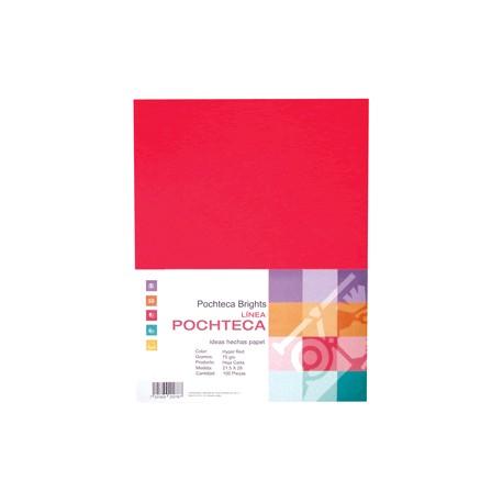 PAPEL BRIGHT RED NEON CARTA CON 100 HOJAS POCHTECA - Envío Gratuito