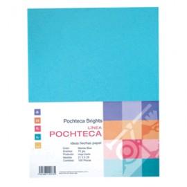 PAPEL BRIGHT BLUE NEON CARTA CON 100 HOJAS POCHTECA - Envío Gratuito