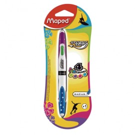 BOLIGRAFO MULTIFUNCION TWIN TIP 4 COLORES FANCY